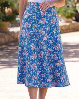 Pauline Floral Linen Blend Skirt
