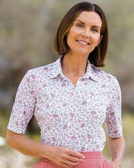 Lisa Multi Coloured Pure Cotton Polo