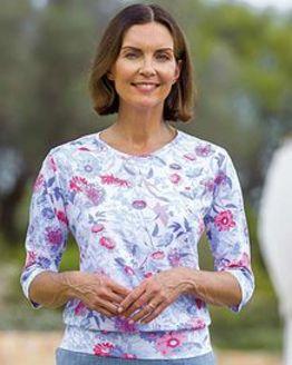 Zara Floral Pure Cotton Blouson Top