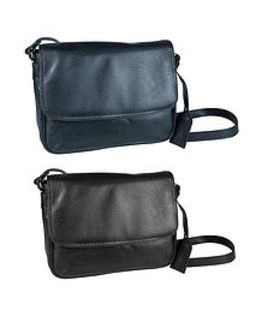 Leather Half Flap Handbag