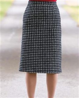 Downton Wool Mix Straight Skirt