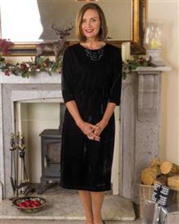 Giselle Mock Velvet Dress