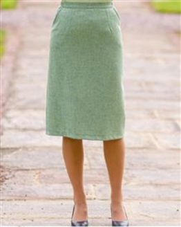 Valencia Pure Shetland Wool Straight Skirt