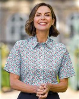 Marbella Patterned Pure Cotton Blouse
