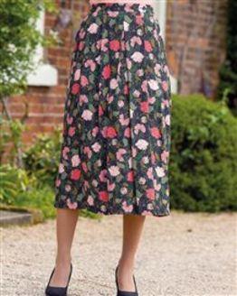 Valerie Floral Supersoft Viscose Skirt