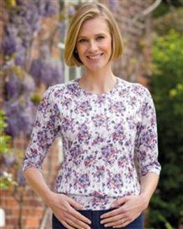 Aurora Floral Pure Cotton Blouson Top
