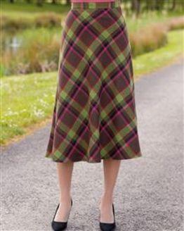 Barnwell Wool Blend Checked Skirt