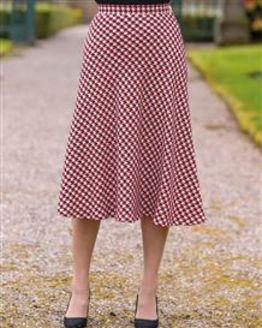 Loretta Wool Blend Patterned Skirt