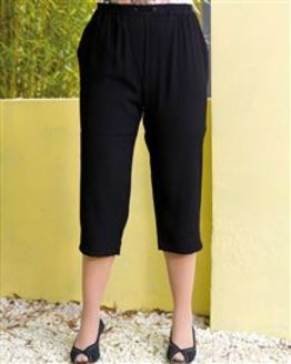 TIGI Black Cropped Trousers