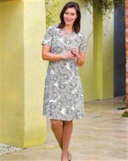 TIGI White Print Dress