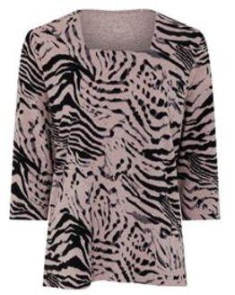 TIGI Square Neck Zebra Print Top
