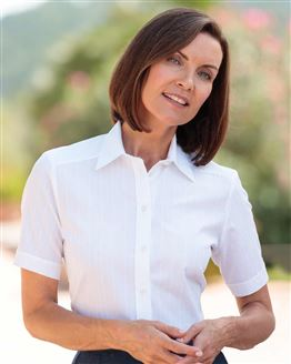 Audrey White Pure Cotton Blouse