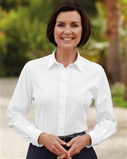 Audrey Pure Cotton Long Sleeved White Blouse