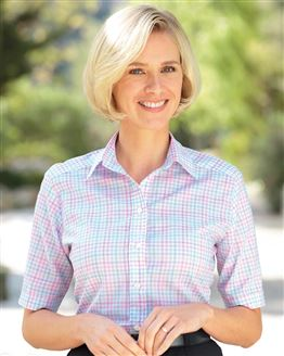 Janice Checked Pure Cotton Blouse