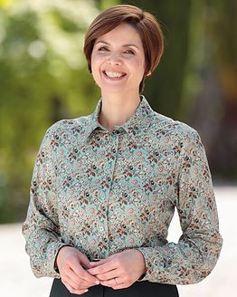 Elspeth Multi Coloured Supersoft viscose Blouse