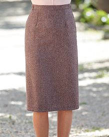 Roseburn Multi Coloured Pure Wool Straight Skirt