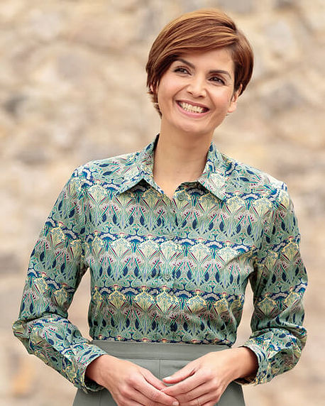 Christa Patterned Liberty Print Tana Lawn Blouse