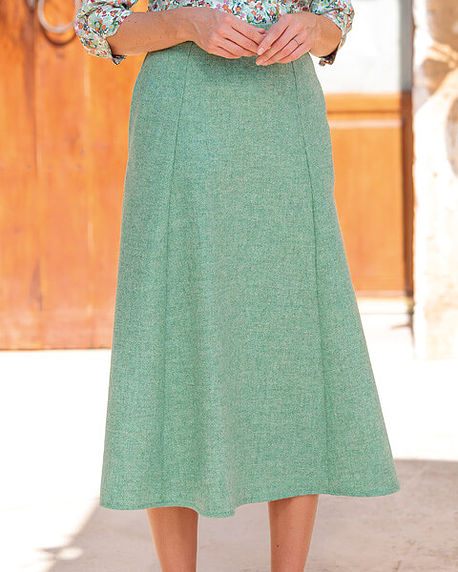 Corsica Apple Green Pure Shetland Wool Skirt