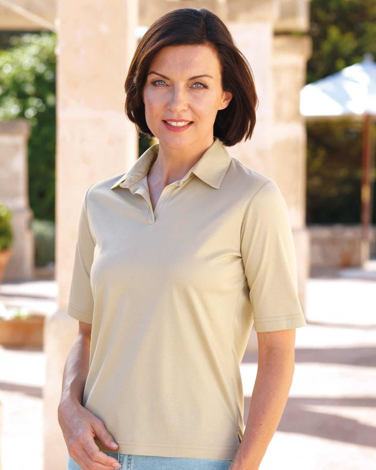 Silky Cotton Ladies Polo Shirt