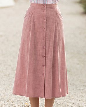 Polly Skirt  - Coral Pink