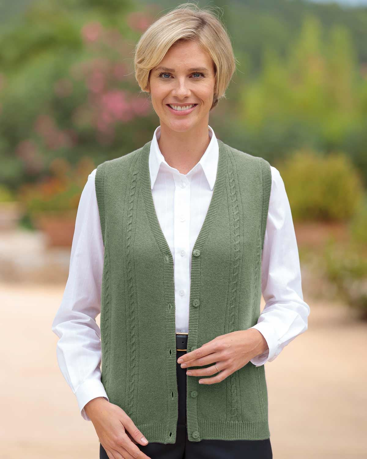 Lambswool Cable Waistcoat Available in 4 Colours