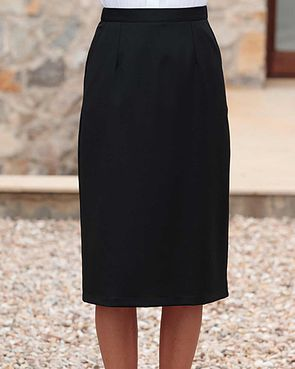 Sandown Wool Mix Straight Skirt - Black