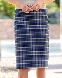 Amalfi Multi Coloured Wool Blend Straight Skirt