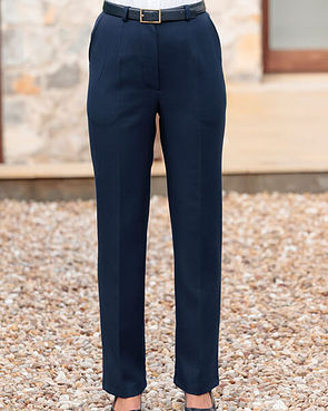 Navy Double Layer Trousers