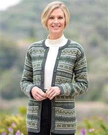 Rosemary Pure Lambswool Fairisle Cardigan