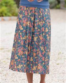 Martha Floral Supersoft Viscose Skirt