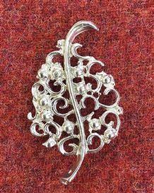 Leaf Pewter Brooch