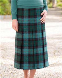 Ingram Pure Wool Checked skirt
