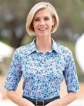 Mia Multi Coloured Pure Cotton Polo