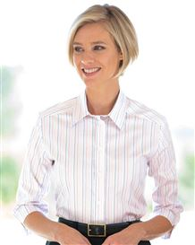 Sharon Striped Pure Cotton Blouse