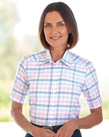 Nellie Checked Pure Cotton Blouse