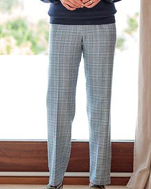 Rimini Checked Cotton Mix Trousers