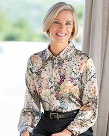 Honor Floral Liberty Print Pure Silk Blouse