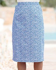 Mary Floral Pure Cotton Straight Skirt