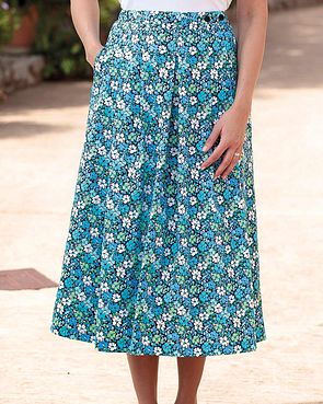 Bessie Floral Pure Cotton Skirt