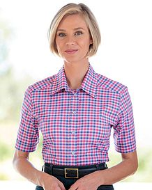 Elsie Checked Pure Cotton Blouse