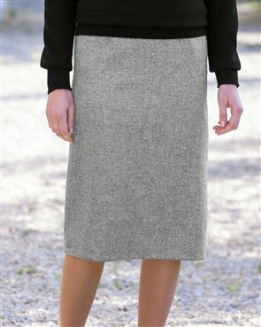 Truro Pure Shetland Wool Straight Skirt