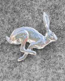 Hare Pewter Brooch