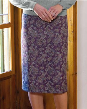 Amelia Wool Mix Straight Skirt