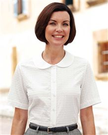 Tina Polycotton White Blouse