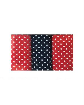 Pure Cotton Spotted Hankerchiefs - Red