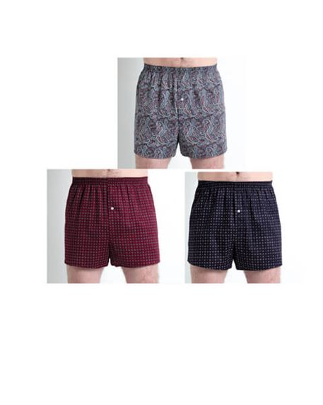 Pack of 3 Cotton Boxer Shorts
