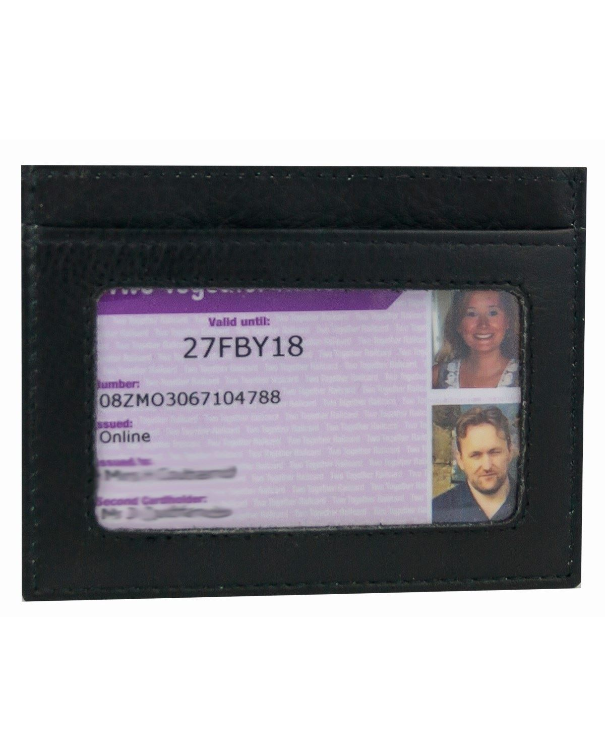 Leather Bus Pass Holder