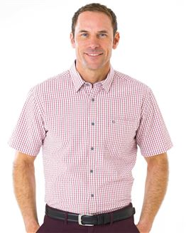 Pure Cotton Short Sleeve Seersucker Shirt