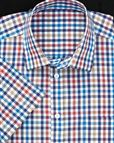 Pure Cotton Short Sleeve Multi Couloured Check Shirt