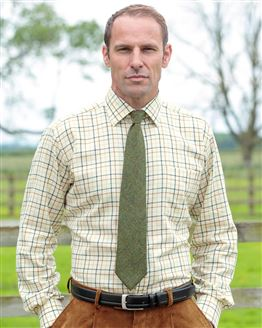 Haydock Tattersall Check Cotton & Wool Shirt